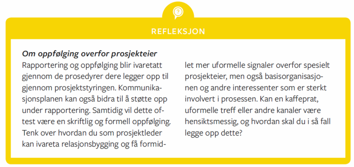 Refleksjonsboks - oppfølgningPE